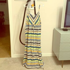 Maxi Dress, Stripes, XL